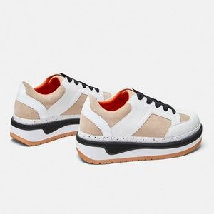 Zara Shoes - CONTRASTING FLAT FORM SNEAKERS
